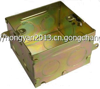 鸿雁钢制86H40~100方形DH75-50~100mm八角HN热镀锌钢制接线盒