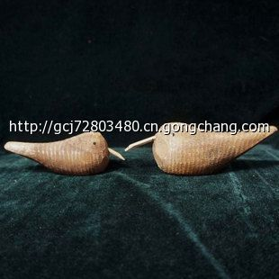 zakka北欧原木动物雕刻海鸟情侣鸟木质摆件创意家居饰品