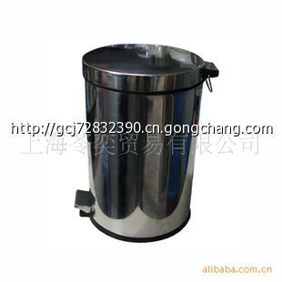 8l脚踏卫生桶/烟灰桶/不锈钢垃圾桶/环保桶/清洁桶