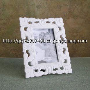 zakka杂货欧式风格 白色木质镂空雕花