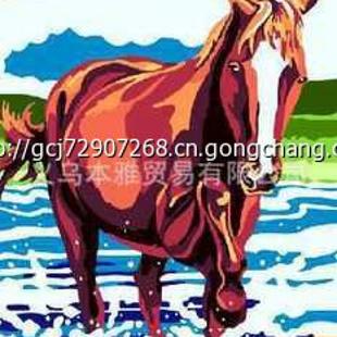 diy数字油画 装饰画批发 数字油画厂家 油画客厅动物客厅:奔马