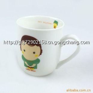 cx321创意可爱一家三口亲子杯子 陶瓷杯 三口之家杯子