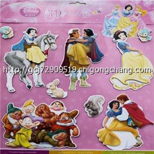 *3d贴纸*迪士尼维尼熊米奇白雪公主系列儿童卡通纸板3d层层贴纸