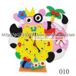 q款eva钟表贴画 儿童手工制作益智玩具