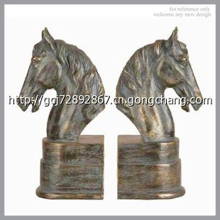 resin树脂仿铜工艺品 复古动物书靠 书档 (可来图来样