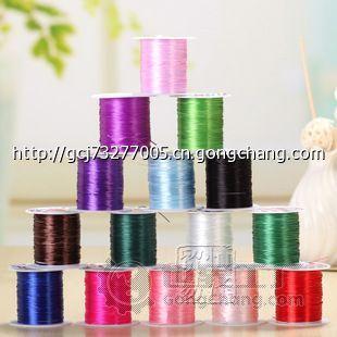 diy手工手链绳子饰品配件材料批发10米扁形编织串珠水晶线弹力线