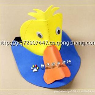 ecm68 儿童可爱翻遍草帽 卡通小鹿角帽子 遮阳动物帽