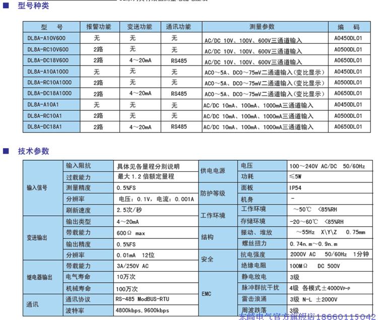 toky东崎仪表 dl8a-a10a1 dl8a-dc18a1真有效值电流表