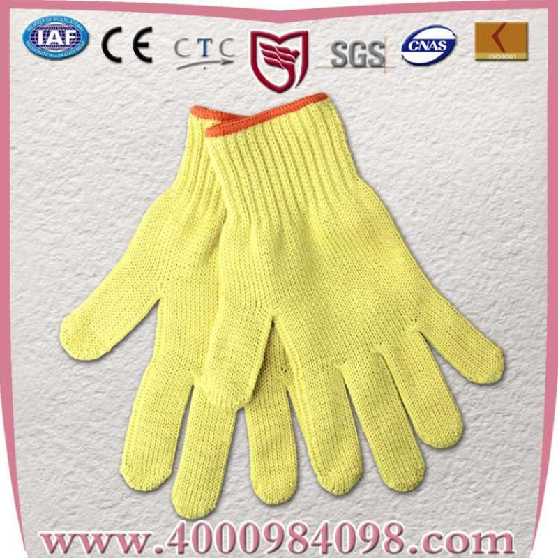 Aramid,芳纶防割手套 耐高温防护工作防切割手套 针织手套