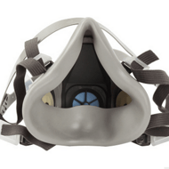 3M 防毒面具6200 防毒防尘橡胶双滤盒