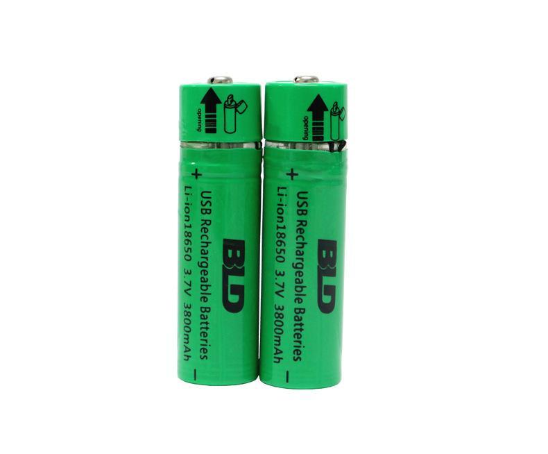 18650usb接口锂电池 usb充电18650锂电池图片