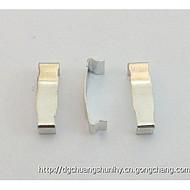 RM10无针铁夹,磁芯专用侧卡,SK7材质表面镀锡。
