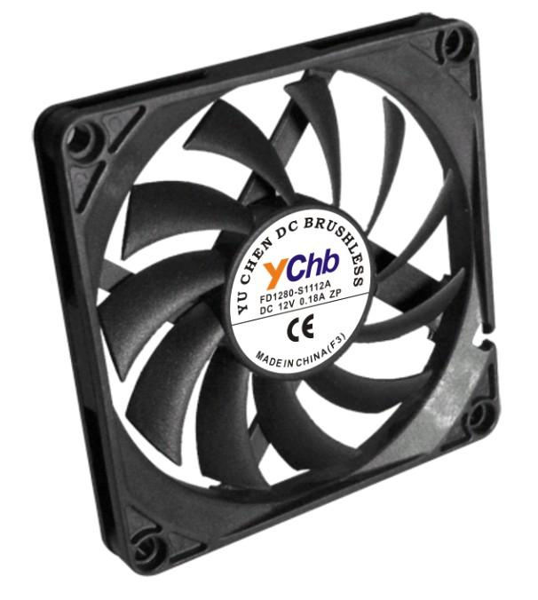 ychb禹臣慧博 FD1280-S1112E 12V风扇 8010电脑计算机散热风扇,超薄散热风扇,8CM