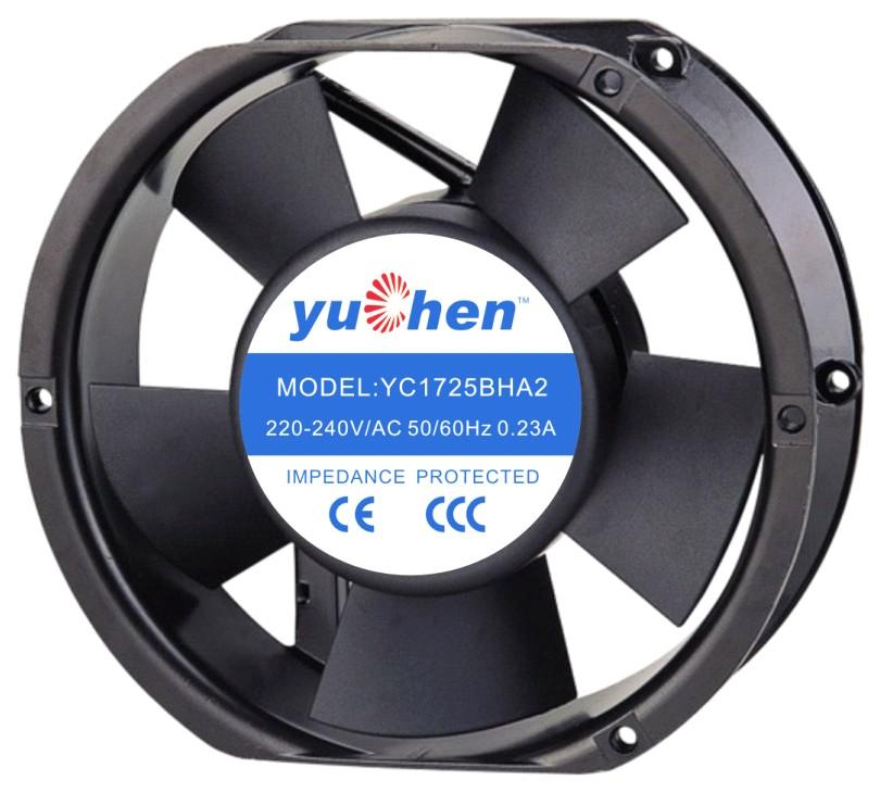 YC17251BHA 轴流风机 椭圆形散热风扇,广州散热风扇生产厂家